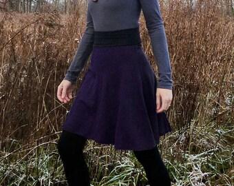 Organic Clothing Wool Skirt Organic Merino Wool Sweater Skirt High Waist Skirt Vintage Style Aline Wool Skirt Winter Sweater Skirt Merino