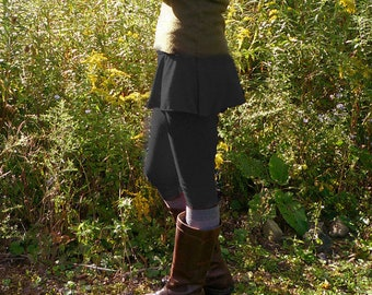 Mid Weight Merino Wool Flared Skirt Leggings