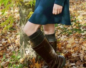 Mid Weight Merino Wool Leg Warmers