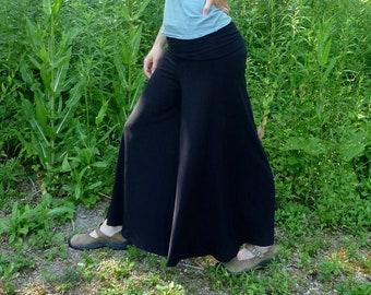 Light Weight Merino Wool Jersey Super Wide Pants