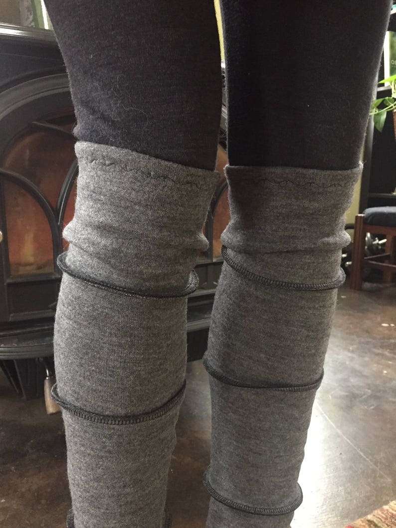 Heavy Weight Merino Wool Leg Warmers image 0