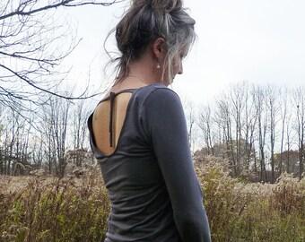 Organic Clothing Light Weight Scoop Back Shirt