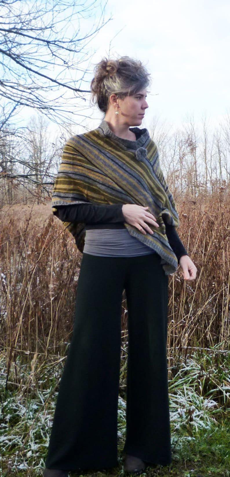 Mid Weight Merino Wool Wide Leg Pants image 0