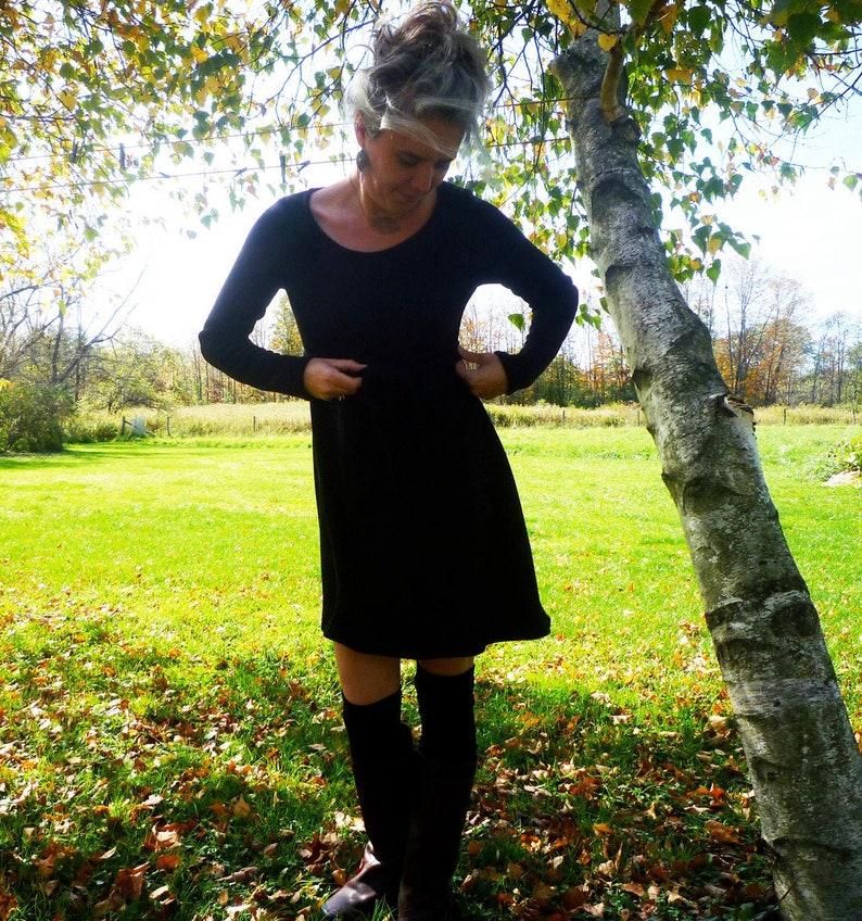 Light Weight Merino Wool Belted Sweater Dress image 0