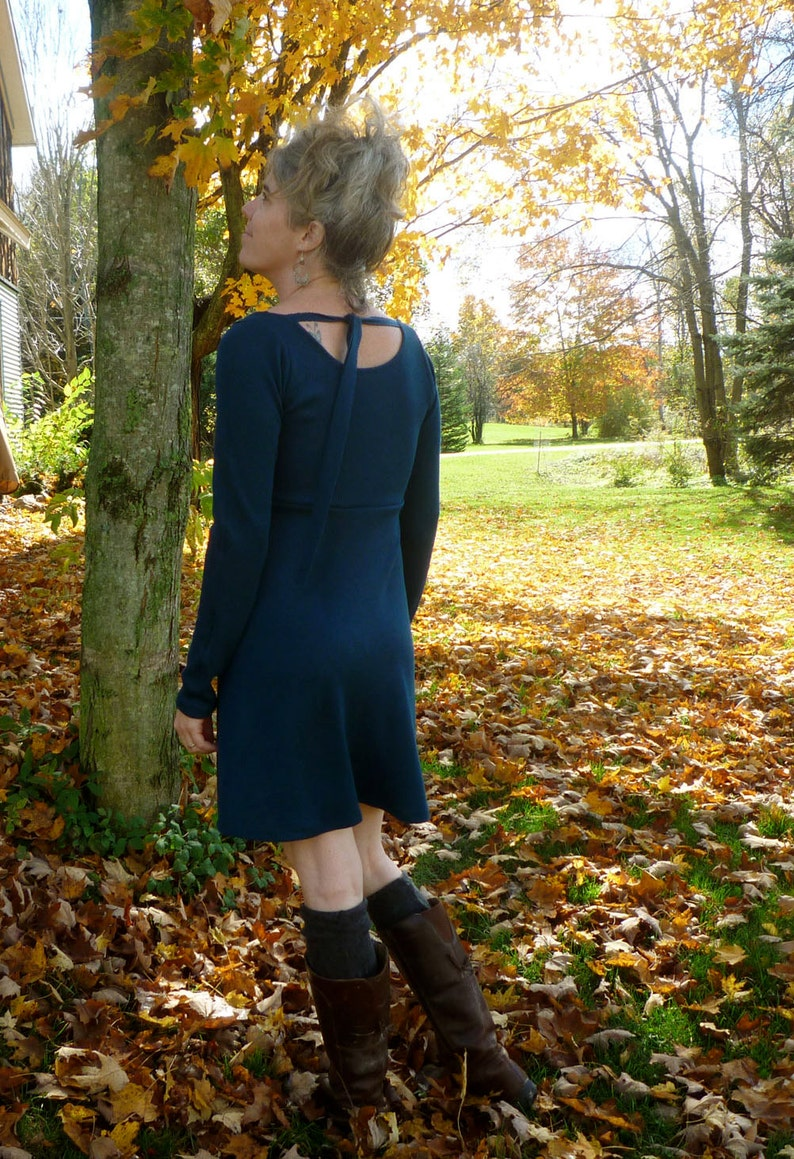 Light Weight Merino Scoop Back Sweater Dress image 0