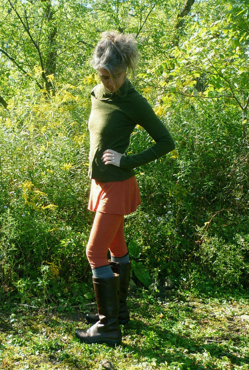 Merino Wool Skirted Leggings image 0