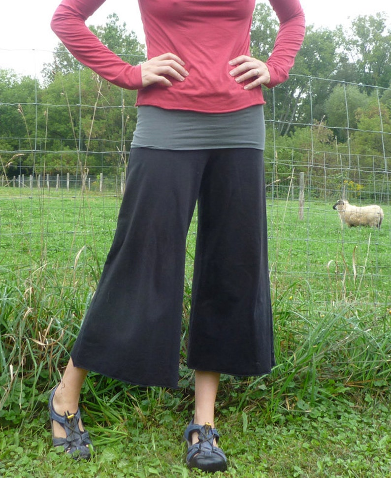 Organic Clothing Cotton Gaucho Pants image 0
