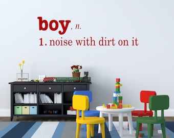 Boy Bedroom Decal Tractors Trucks And Toys Wall Decal Vinyl Etsy