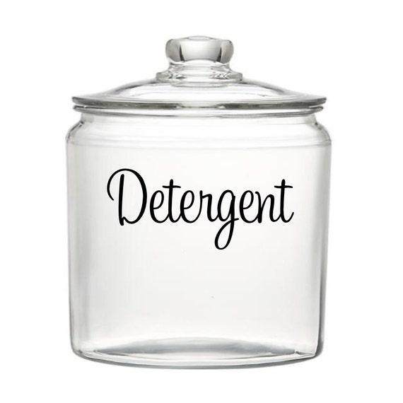 Detergent Vinyl Decal Vinyl Lettering Laundry Container Etsy