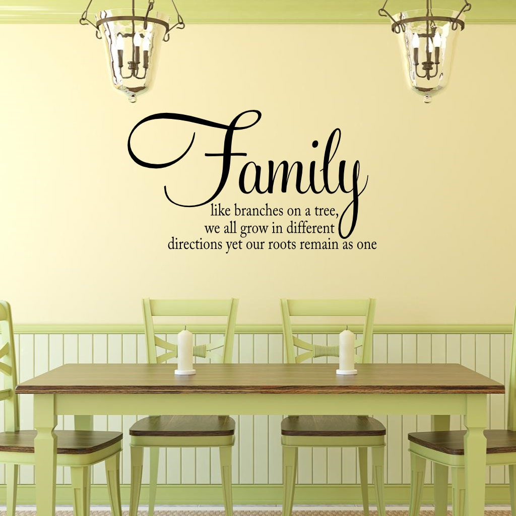 Family Saying Wall Decal Family Wall Quote Vinyl Wall Saying | Etsy
