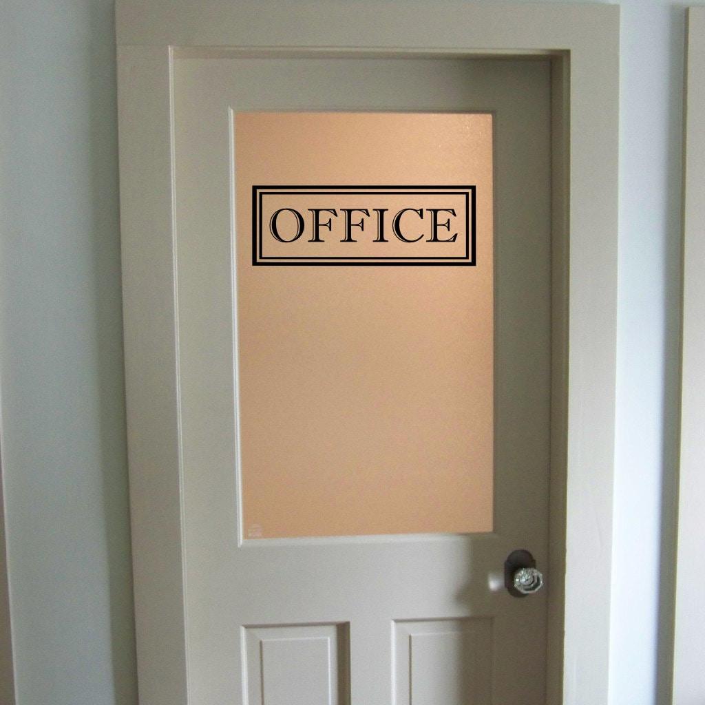 Office Vinyl Decal Office Glass Door Decal Wall Words Vinyl Etsy