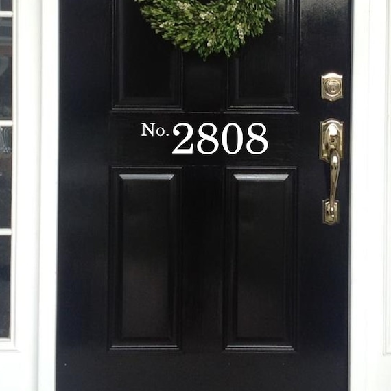 Great Vinyl House Numbers Front Door Decal House Numbers For Front