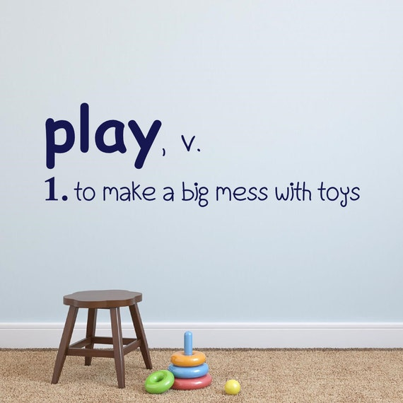 Boys /& Their Toys Wall Lettering Decal Sticker Words