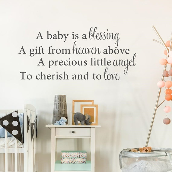 A Baby Is A Blessing From Above Baby Wall Decal Vinyl Etsy