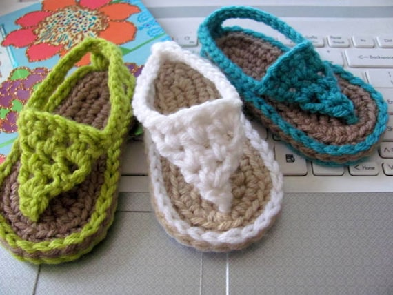 New Pattern Crochet Baby Flip Flop Sandals Instant Download Etsy