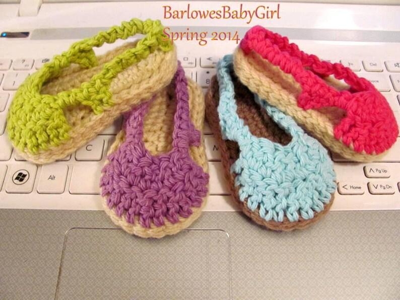 NEW Pattern Crochet Sling Back Girl/'s Sandal Digital Download Pattern