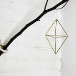 Double pyramid Geometric air planter ornament