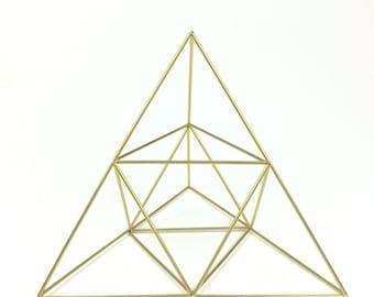 Pyramid air planter and table sculpture - medium