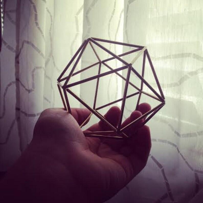 Small Brass Sphere  mobile  Scandinavian himmeli sculpture  image 0