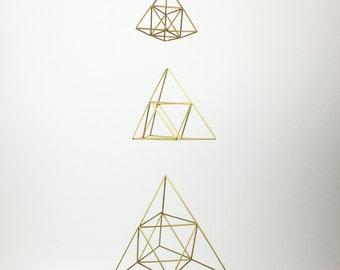 Ascending Pyramids - Scandinavian himmeli sculpture