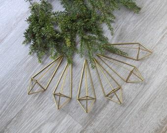 mini teardrop himmeli ornaments - set of six