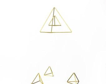 Triangles Baby Mobile - Scandinavian himmeli sculpture