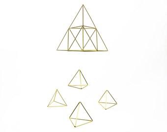 Pyramid Baby Mobile - Scandinavian himmeli sculpture
