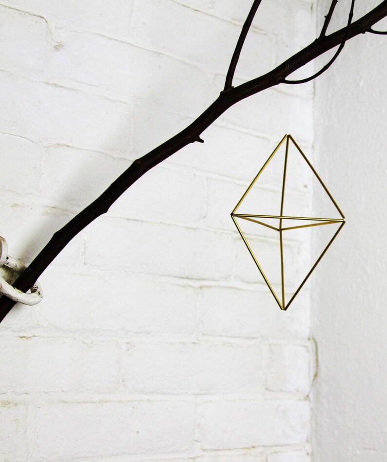 Double pyramid Geometric air planter ornament image 0