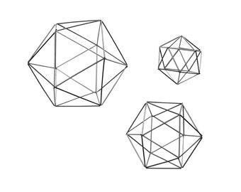Set of 3 Silver Spheres