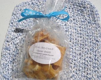 Peanut Brittle FAVORS 3oz - Ken's Airy Crunch Homemade Brittle Event Shower Wedding