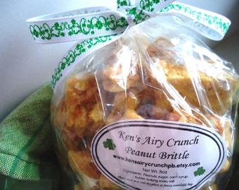 Peanut Brittle HALF LB - Ken's Airy Crunch Homemade Brittle Candy Bag