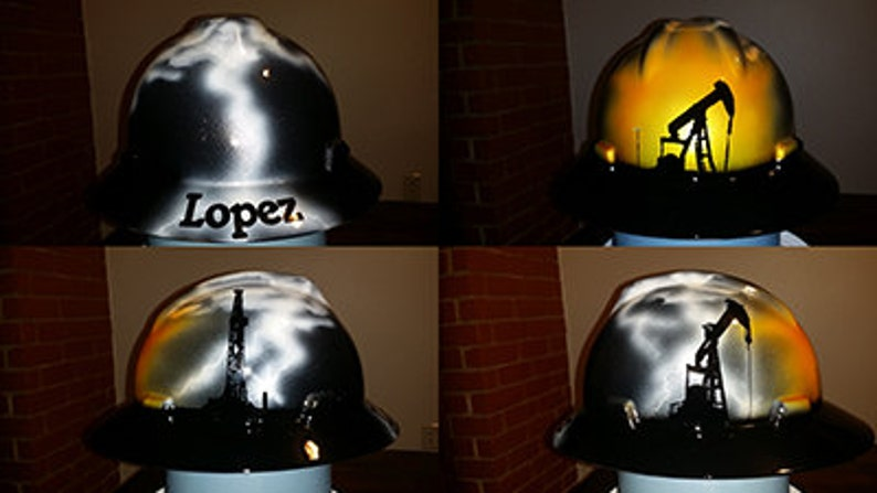 eece0c2f3 Oilfield Storm custom painted hard hat