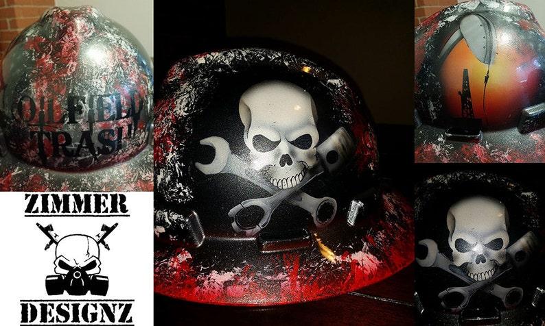 Detailed Custom Painted Oilfield Trash Hard Hat  f25874fd1517