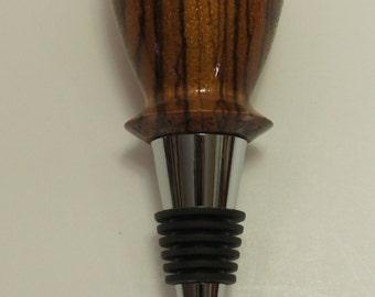 Bottle stopper, zebrawood