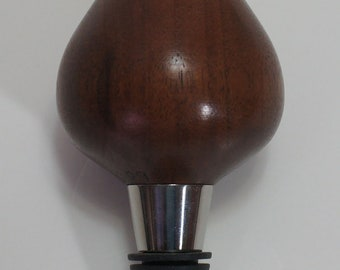 Bottle stopper, walnut