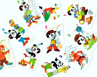 10 Vintage Andy Panda Game Cards Vintage - Mixed Media, Altered Art, Assemblage, Collage, Scrapbooking, Journal Supplies