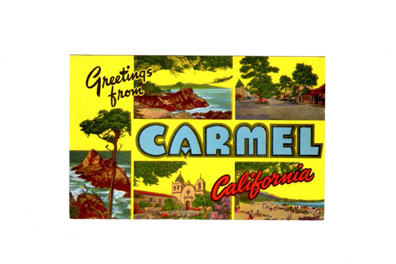 Greetings from carmel california vintage postcard etsy zoom m4hsunfo
