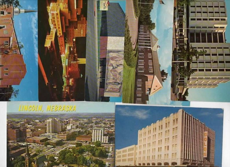 20 Vintage Lincoln Nebraska Chrome Postcards Blank Wedding Guest Book