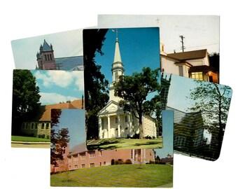 70 Vintage United States Church Unused Blank Postcard Set Unique Wedding Guestbook Alternative Wedding Reception Decor