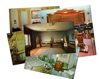 125 Vintage Museum Postcards, United States Unused Blank Postcard Set Unique Wedding Guestbook Alternative Wedding Reception Decor