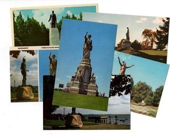 50 Vintage United States Sculptures Postcards, Unused Blank Postcard Set Unique Wedding Guestbook Alternative Wedding Reception Decor