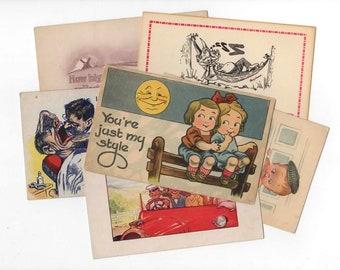 50 Vintage Greeting Postcards -  Unused Blank Postcards