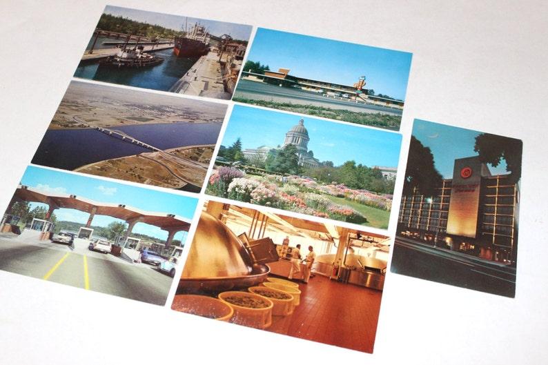 50 Vintage Washington Chrome Unused Postcards Wedding Guest Book