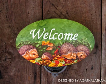 Wooden Welcome sign Home decor sign. Valentin's Day Gift
