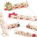 Custom Name Ornament with Scrabble Tiles - Harper, Emma, Makenzie, Emerson, Leo, Owen, Jackson, Aiden - Gift under 10 - Gift for Children