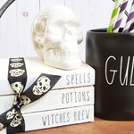 Halloween Stamped Books - Spells, Potions, Witches Brew Books - Halloween Decor - Paper Book Set - Farmhouse Books - Tiered Tray Decor