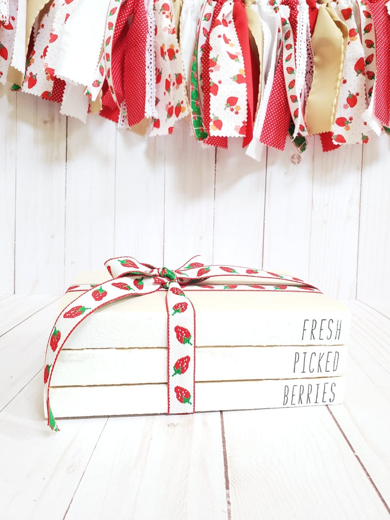 Fresh Picked Berries Decor Stamped Books  Strawberry Summer image 0