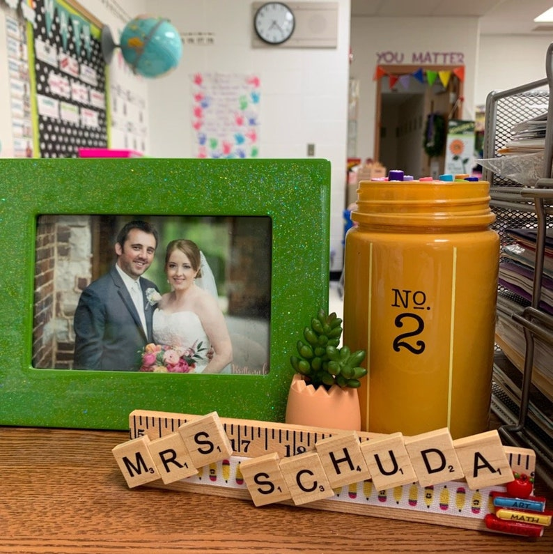Personalized Desk Plate Gift for Teacher  Personalized image 0