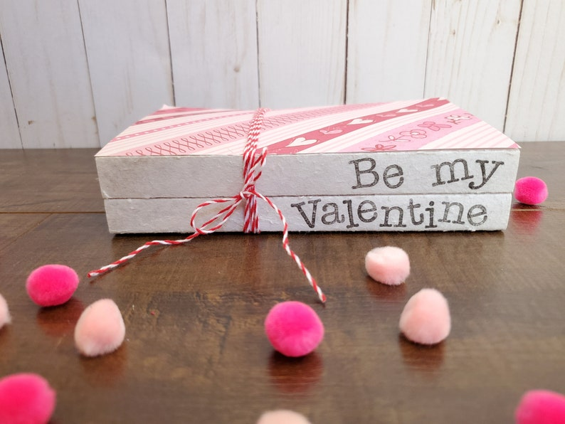 Be My Valentine Stamped Books for Valentine's Day Tiered image 0