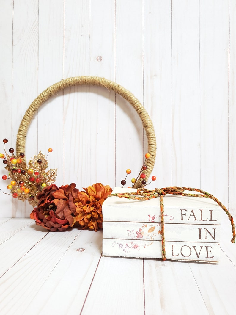 FALL IN LOVE Stamped Book Set  Fall Leaf Rakers Society Decor image 0